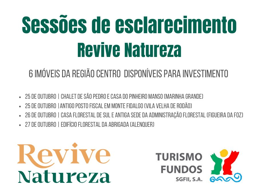 Sessões de esclarecimento do fundo Revive Natureza da Turismo Fundos